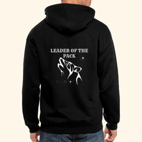 LEADER OF THE PACK WOLF - Men's Zip Hoodie