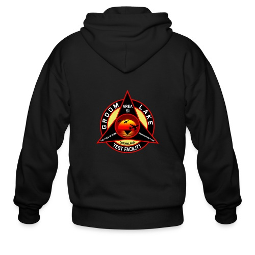 THE AREA 51 RIDER CUSTOM DESIGN - Men's Zip Hoodie