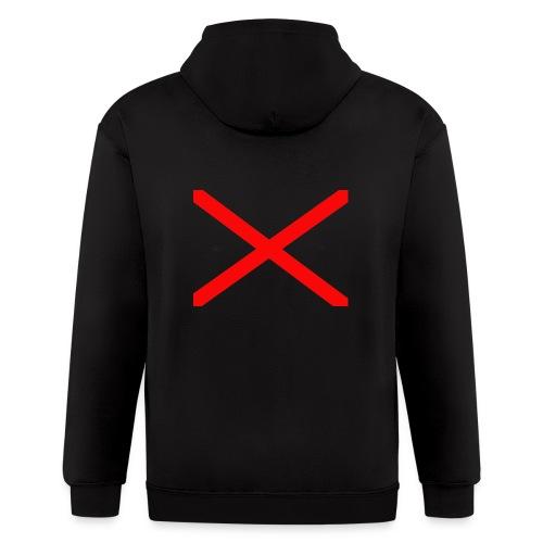GAMER-X-1ST Youtube LOGO - Men's Zip Hoodie