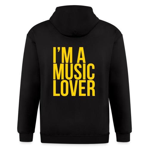 Music Lover big - Men's Zip Hoodie