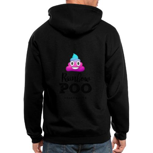 Rainbow Poo - Men's Zip Hoodie