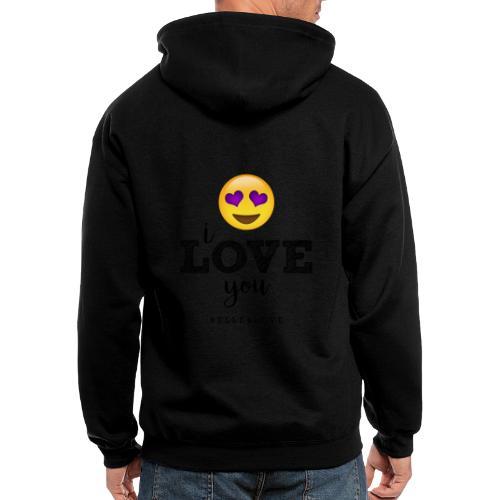 I LOVE you - Men's Zip Hoodie