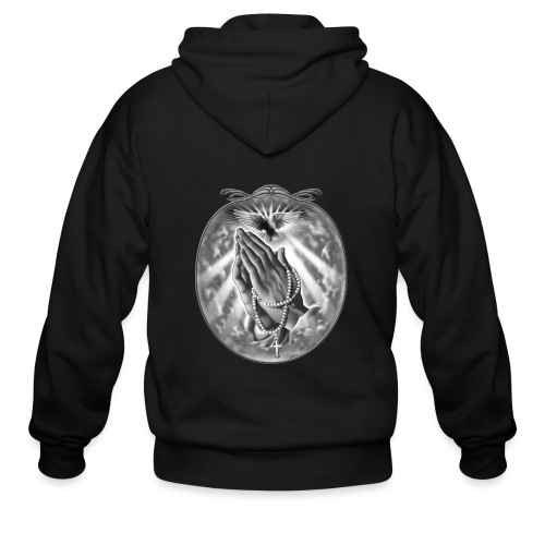 Praying Hands by RollinLow - Men's Zip Hoodie