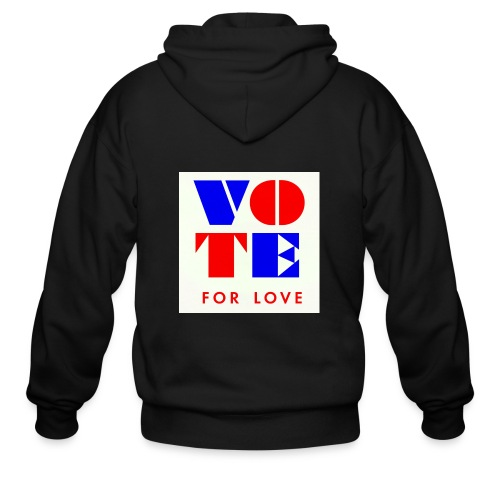 vote4love-sample - Men's Zip Hoodie