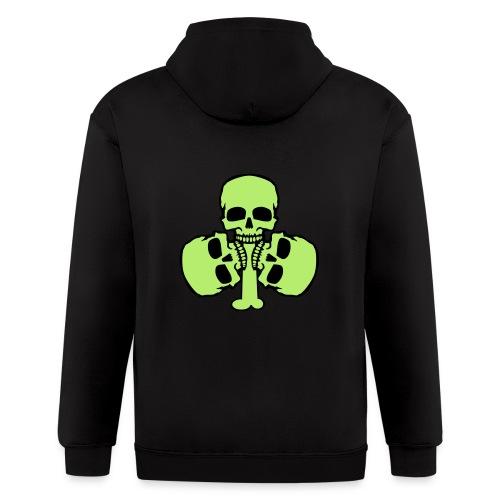 Skull Shamrock w/ Teeth - Men's Zip Hoodie
