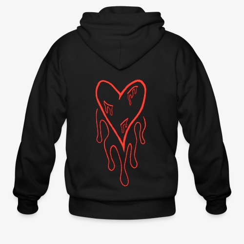bleeding heart - Men's Zip Hoodie