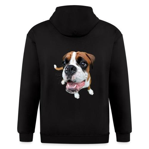 Boxer Rex the dog - Men's Zip Hoodie