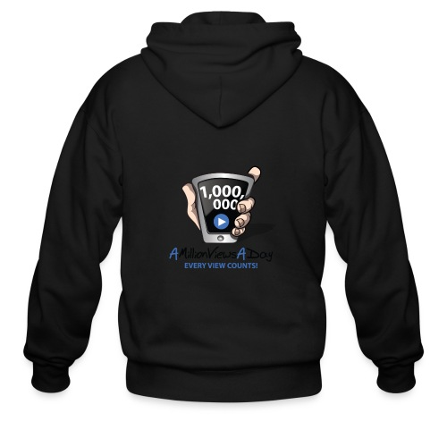 AMillionViewsADay - every view counts! - Men's Zip Hoodie