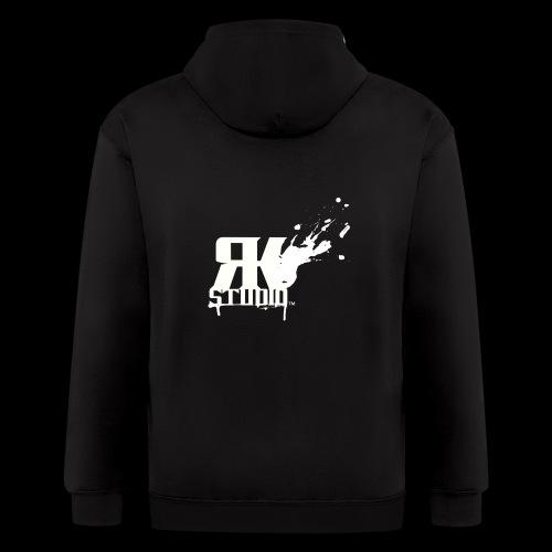 RKStudio White Logo Version - Men's Zip Hoodie