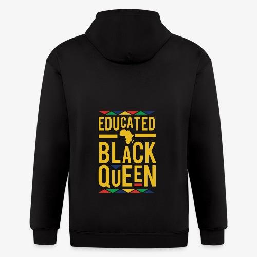 Dashiki Educated BLACK Queen - Men's Zip Hoodie
