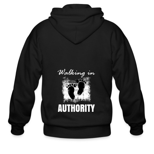 Walking in authority - Men's Zip Hoodie