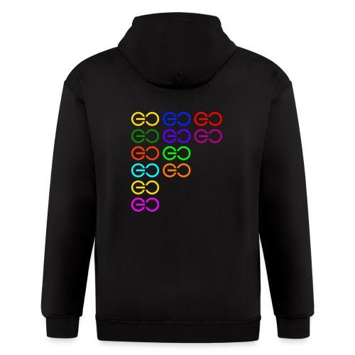 GOGOGO multi color - Men's Zip Hoodie