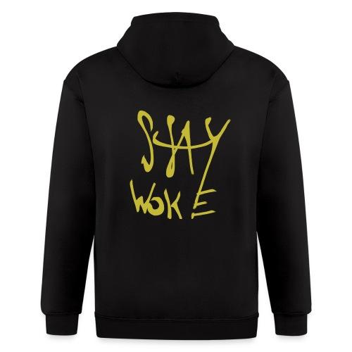Stay Woke Hobag Knowledge. - Men's Zip Hoodie