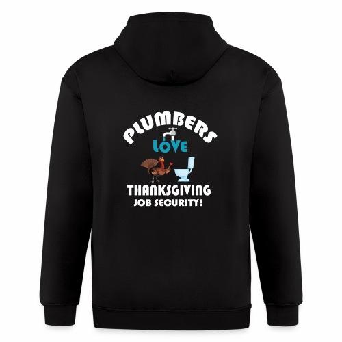 Thanksgiving Contractor Repairman Tradesman Home. - Men's Zip Hoodie
