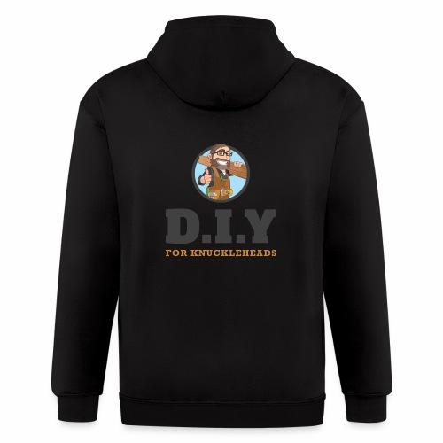 DIY For Knuckleheads Logo - Men's Zip Hoodie