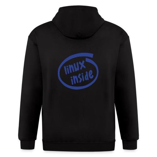linux inside - Men's Zip Hoodie