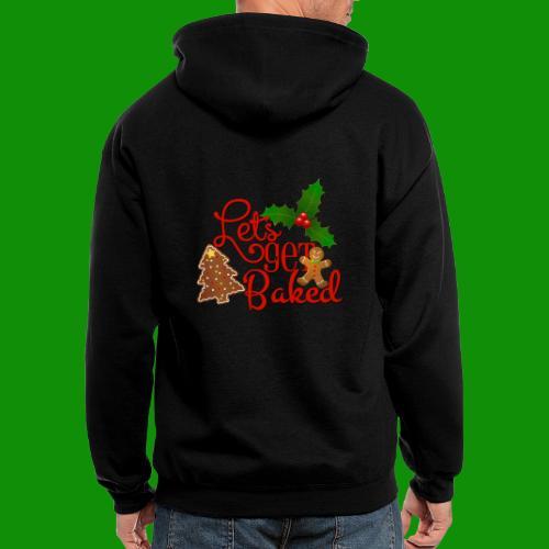 Let's Get Baked - Family Holiday Baking - Men's Zip Hoodie