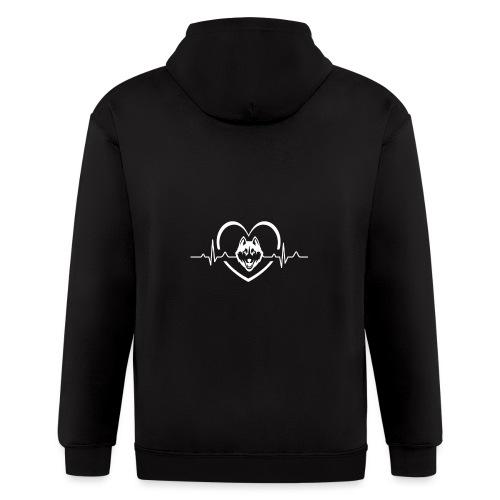 Love every beat for Husky T-Shirt - Men's Zip Hoodie