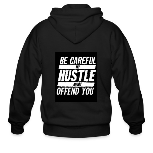My Hustle Might Offend You - Men's Zip Hoodie