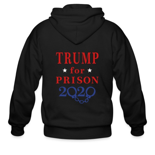 Trump for Prison 2020 T-shirts - Men's Zip Hoodie