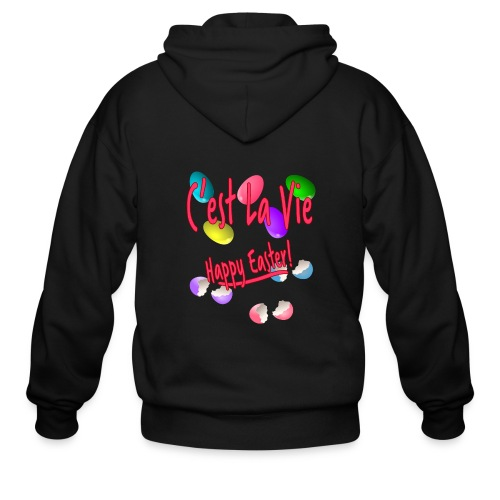 C'est La Vie, Easter Broken Eggs, Cest la vie - Men's Zip Hoodie