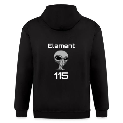 Element 115 Moscovium Alien Fuel - Men's Zip Hoodie