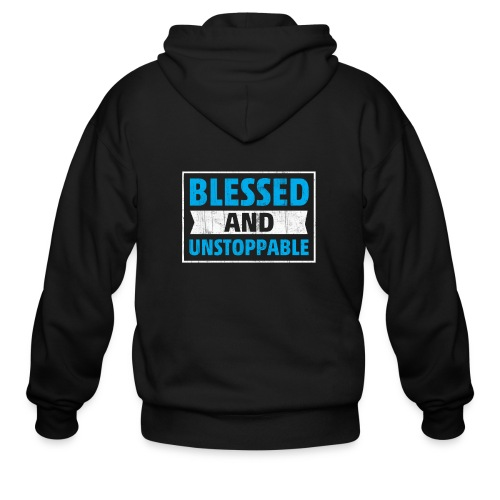 Blessed and Unstoppable Short-Sleeve Unisex - Men's Zip Hoodie