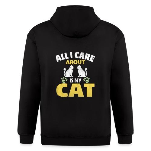 All I care Is My Cat - Men's Zip Hoodie