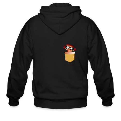 Pizza Lover pocket - Men's Zip Hoodie