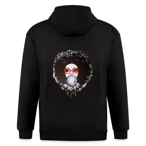 Afro pop_ - Men's Zip Hoodie