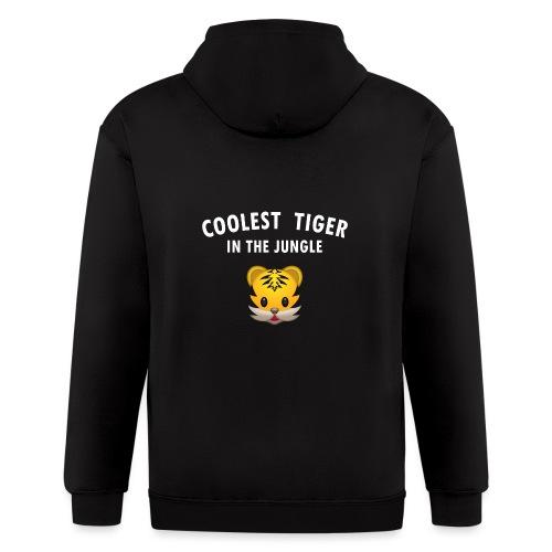 Coolest Tiger Hoodie - Men's Zip Hoodie