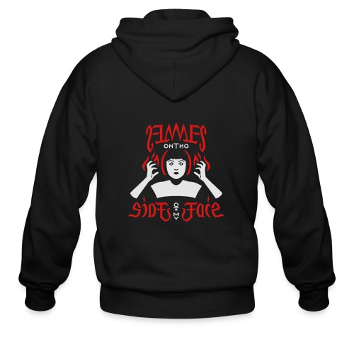 Flames on the Sides of my Face - Men's Zip Hoodie