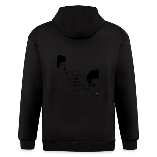 Kreyol_pale_Kreyol_kompran - Men's Zip Hoodie