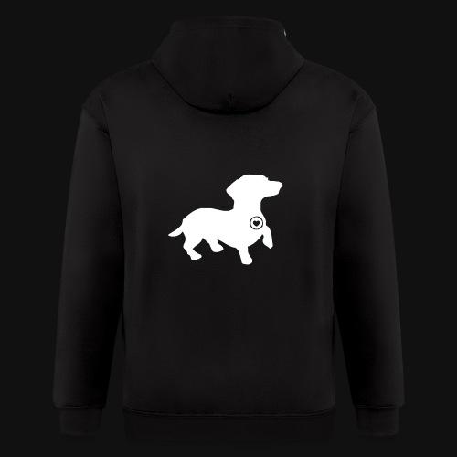 Dachshund silhouette white - Men's Zip Hoodie