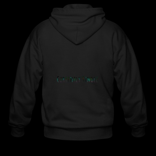 Currently Single T-Shirt - Men's Zip Hoodie