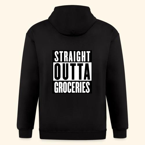 STRAIGHT OUTTA GROCERIES - Men's Zip Hoodie