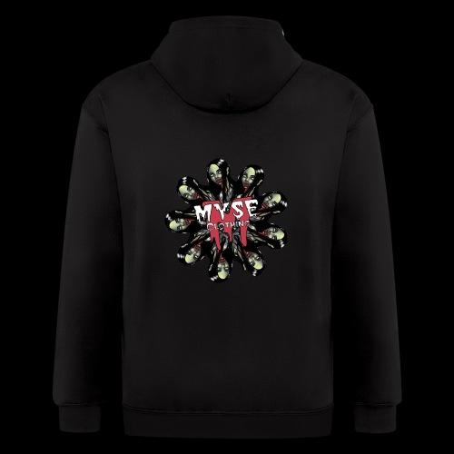 MYSE Clothing - zombie mandala - Men's Zip Hoodie
