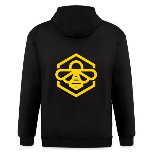 bee symbol orange - Men's Zip Hoodie