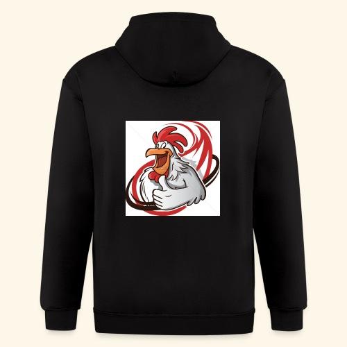 cartoon chicken with a thumbs up 1514989 - Men's Zip Hoodie