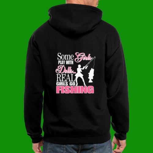 Real Girls Go Fishing - Men's Zip Hoodie