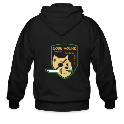 Doge Hound Metal Gear Solid - Men's Zip Hoodie