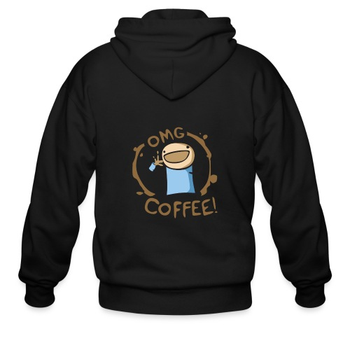 OMG COFFEE - Men's Zip Hoodie