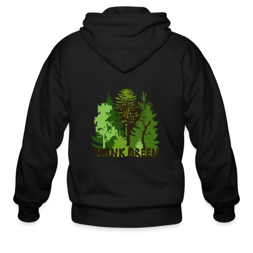 EARTHDAYCONTEST Earth Day Think Green forest trees - Men's Zip Hoodie