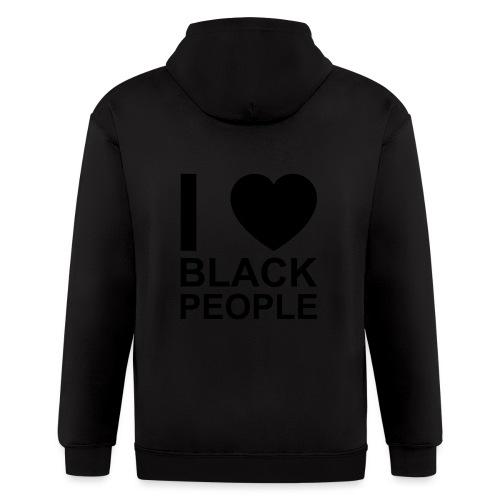 I love Black people - Men's Zip Hoodie