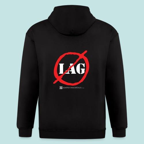 No Lag (white) - Men's Zip Hoodie