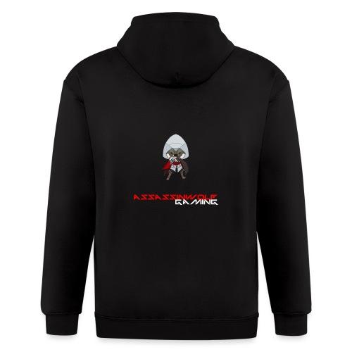 heather gray assassinwolf Tee - Men's Zip Hoodie