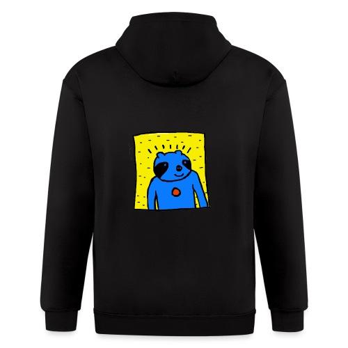 Sloth Portrait Hoodie - Men's Zip Hoodie