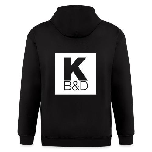 KBD_White - Men's Zip Hoodie