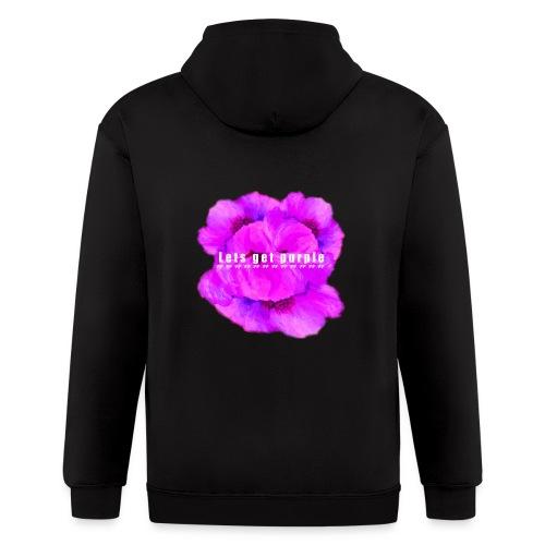 lets_get_purple_2 - Men's Zip Hoodie