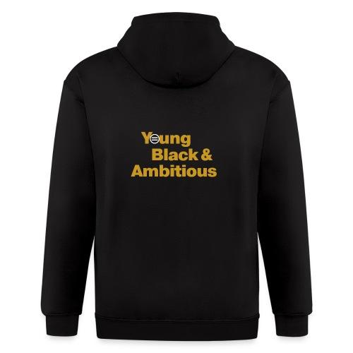 YBA Black and Gold Shirt2 - Men's Zip Hoodie